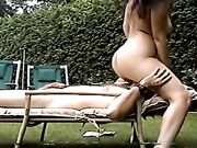 Exhibitionist amateur couple makes sex outdoor