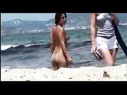 Nudist Woman at the Beach